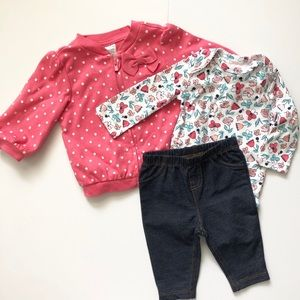 Carter's Baby Girl 3 Piece Spring Outfit